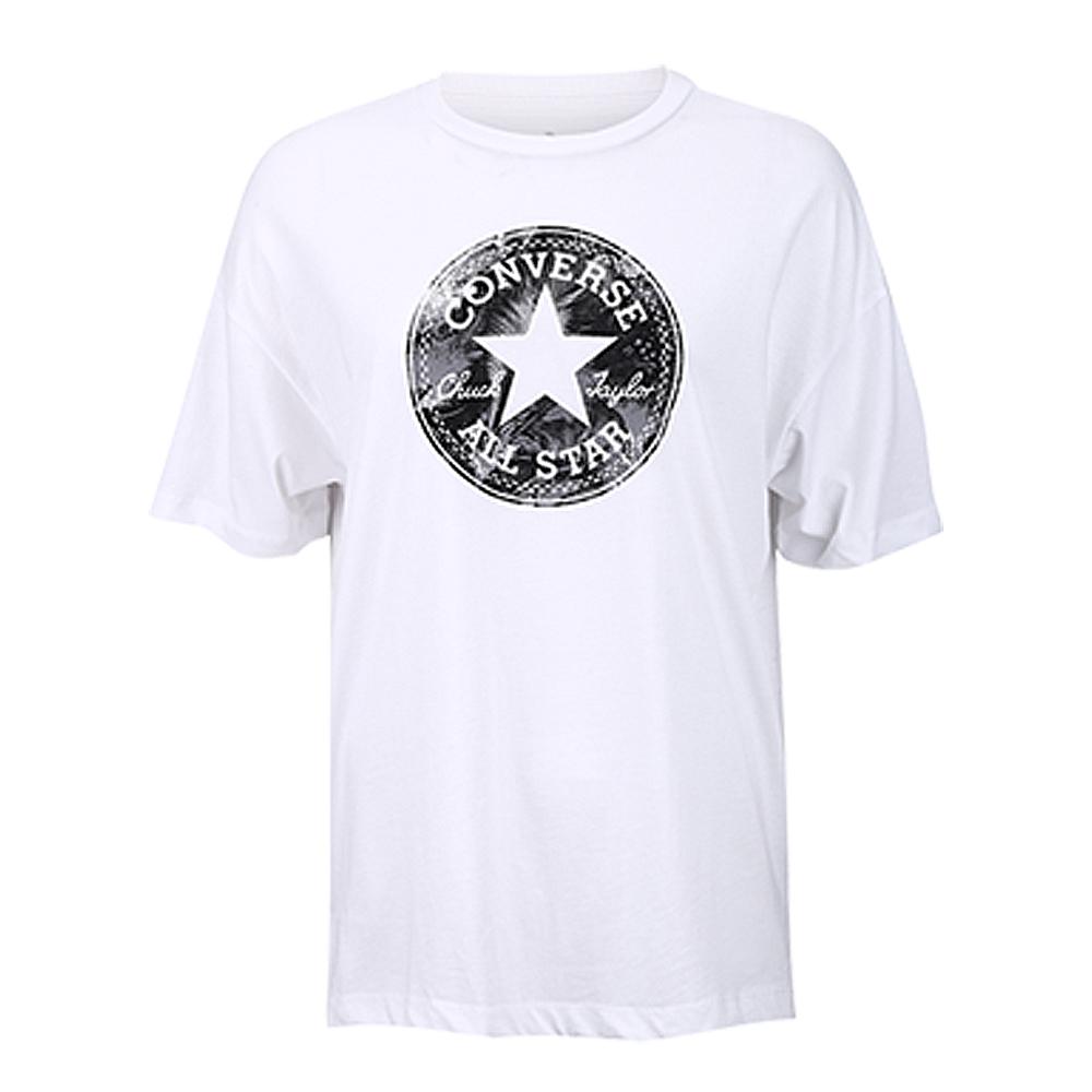 CONVERSE-女休閒短T恤10006462-A01-白