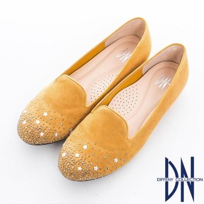 DN 人氣私著 台灣製繁星閃鑽點綴樂福鞋 黃