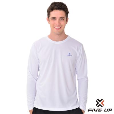 FIVE UP-簡單生活吸排圓領T-男-經典白