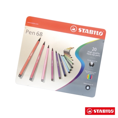 STABILO 繪畫系 - Pen68 彩色筆20色