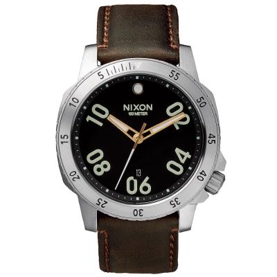 NIXON RANGER 星際領航員時尚潮流腕錶-咖啡/44mm