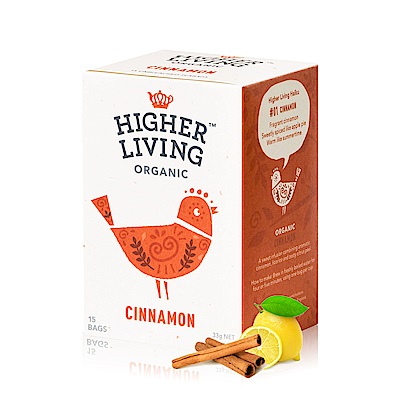 英國HIGHER LIVING 熱戀肉桂有機茶(2.2gx15包)