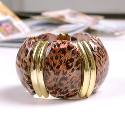 【Aimee Toff】豹紋最愛襯金貴氣手環