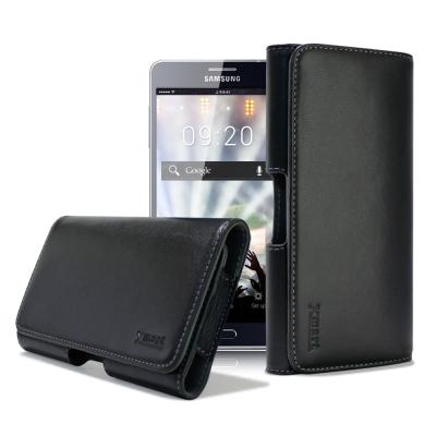X mart 三星Galaxy A7/ A8 / S6 Edge+ 型男羊皮橫式...