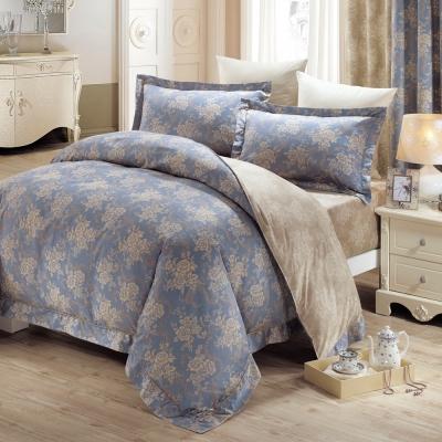 鴻宇HongYew 美國PIMA棉 400織-莫里斯 雙人加大枕套床包三件組