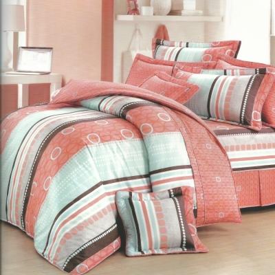 甜蜜圈圈-台灣製造-5-0呎x-6-2呎-六件式雙人-100-純棉-舖棉床罩組-橘白色
