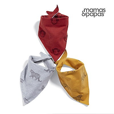 【Mamas & Papas】猴孩子-雙面領巾/口水巾 3 件組