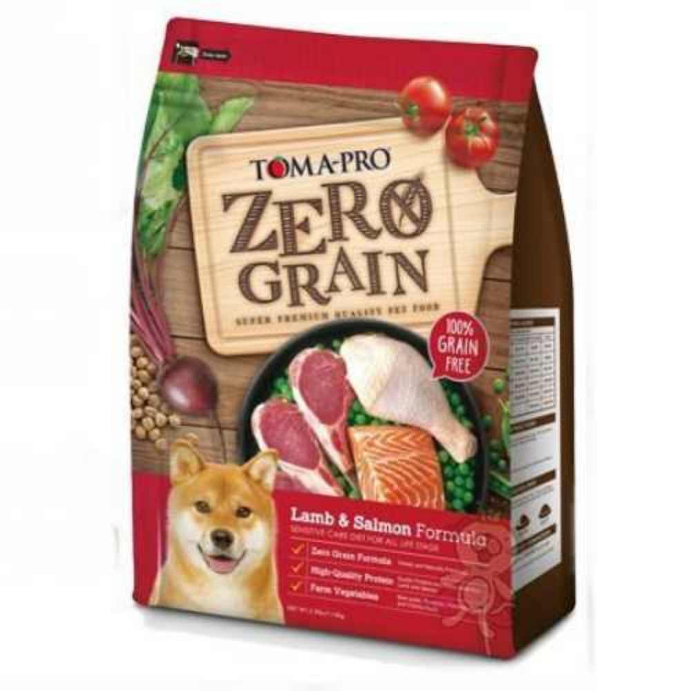 優格TOMA-PRO 零穀食譜 羊肉+鮭魚敏感配方犬糧 5.5磅