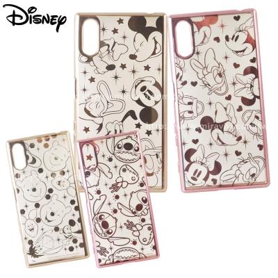 Disney迪士尼SONY Xperia XZ時尚質感電鍍保護套-亂花