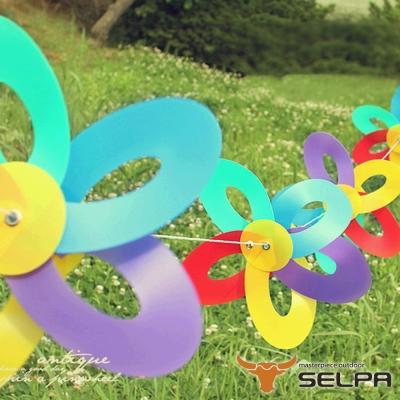 韓國SELPA 繽紛飾品-繽紛風車掛旗