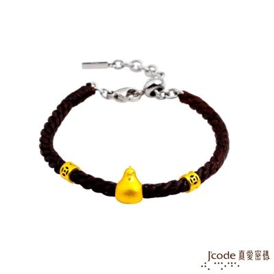 J'code真愛密碼 圓滿招貴人-雞 黃金編織手鍊