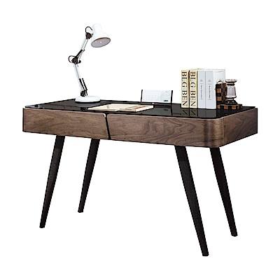 品家居 摩莎力 4 . 2 尺胡桃木紋電腦桌/書桌- 125 x 55 x 75 cm免組