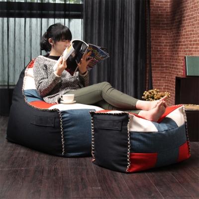 【H&D】MERYL梅莉拼布風。懶人沙發+凳/懶骨頭