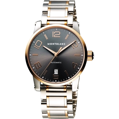 MONTBLANC 萬寶龍 TIMEWALKER 18K玫瑰金機械腕錶-39mm