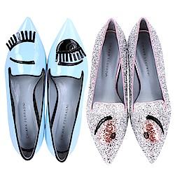 Chiara Ferragni 尖頭樂褔鞋均一價$5280(專櫃價$13800)