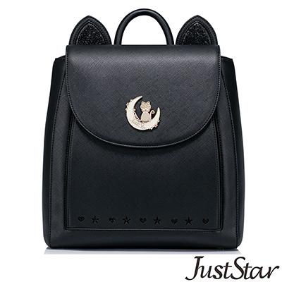 Just-Star-月亮KIKI貓咪耳朵後揹包-星