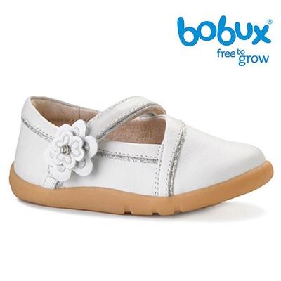 Bobux 紐西蘭 i walk 童鞋學步鞋 白色小花閃耀鞋款
