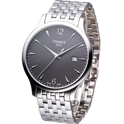 TISSOT T-TRADITION 極簡雅士時尚腕錶-鉛灰/42mm