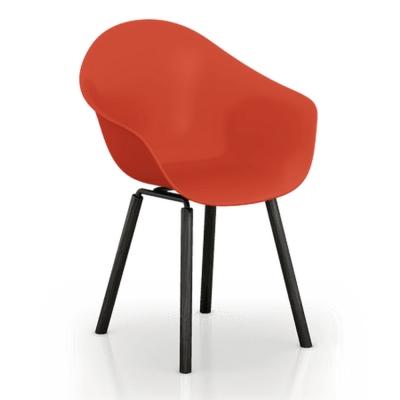 TOOU 義大利品牌 TA系列 銀石休閒椅  橡木黑色椅腳