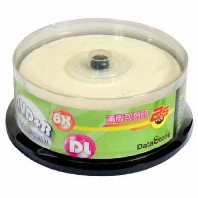 DataStone 精選日本版 DVD+R DL 8X 珍珠白可印 桶裝 (25片)