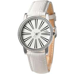 CLOIE 簡約魅力晶鑽時尚腕錶-白/39mm
