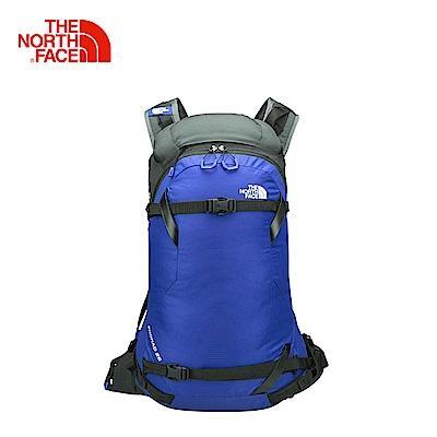 The North Face北面男女款亮深藍舒適防護戶外運動後背包
