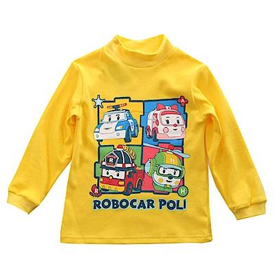 POLI純棉半高領長袖T恤 黃 k60016