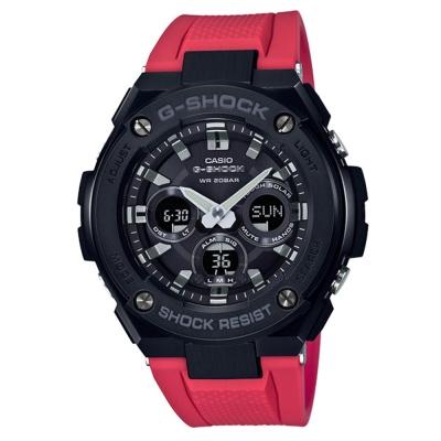 G-SHOCK創新突破分層防護雙層結構休閒錶(GST-S300G-1A4)紅黑52.4mm