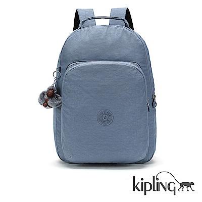Kipling 後背包 紫羅蘭灰素面-大