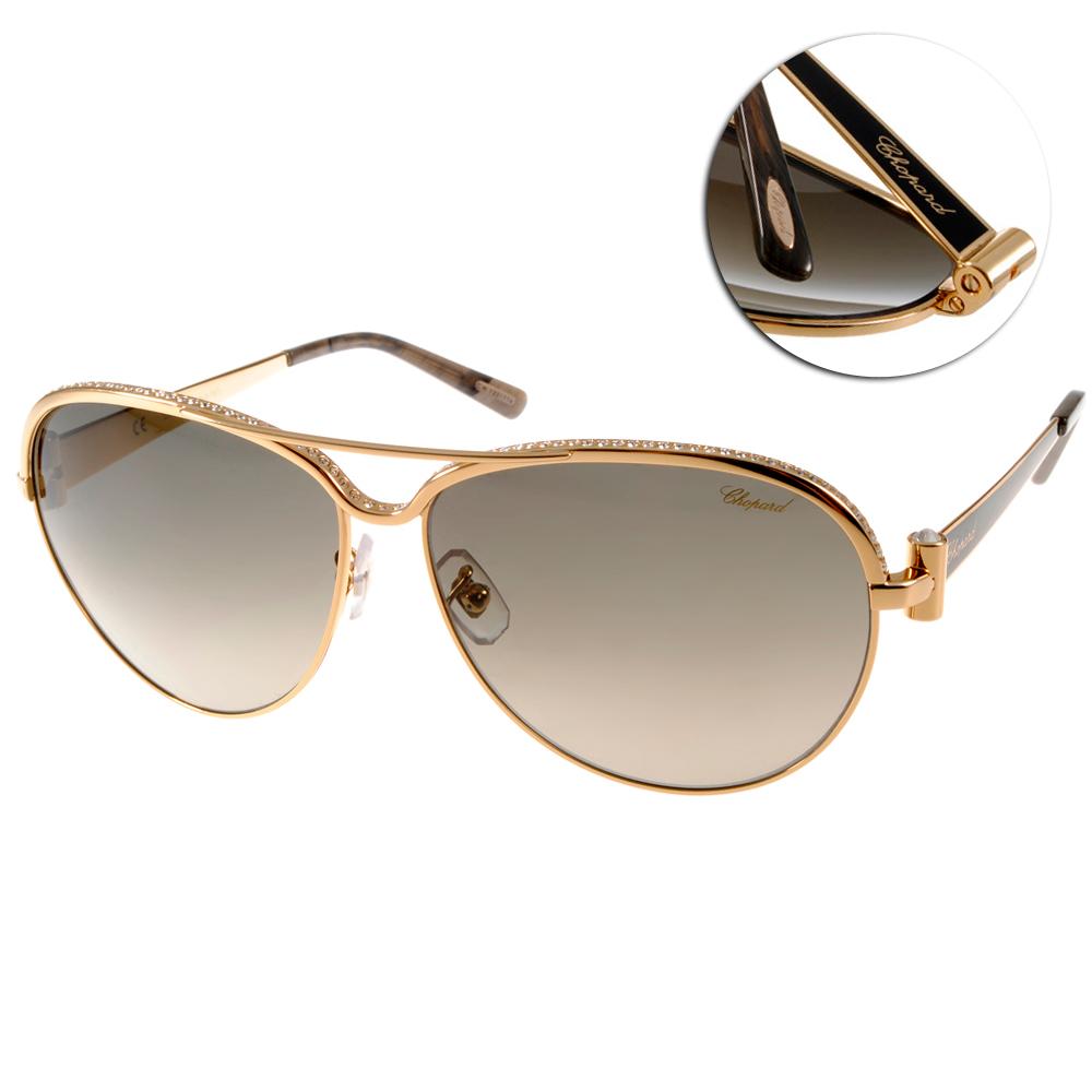 CHOPARD蕭邦太陽眼鏡 鑲鑽飛官系列/金#CP996S 0301