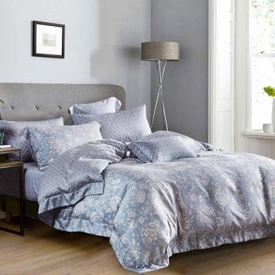 Ania Casa 天絲 TENCEL- 加大鋪棉兩用被套床包四件組組- 沐妍-藍