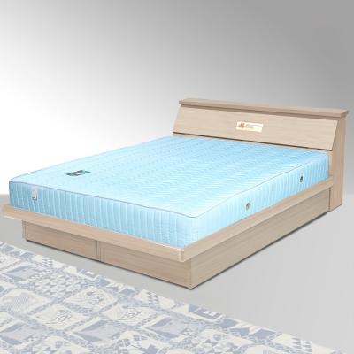 Homelike 席歐6尺掀床組+獨立筒床墊-雙人加大(二色任選)
