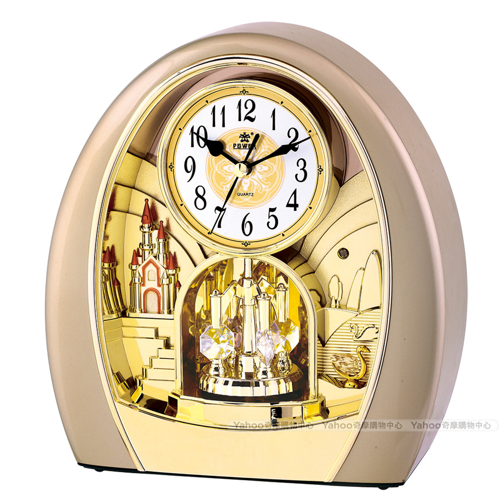 POWER霸王鐘錶-高品質座鐘-天鵝湖城堡-PW-4211-ARMKS-24.9CM