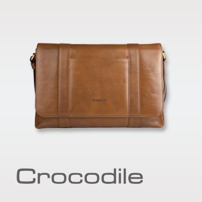 Crocodile Natural 2.0 橫式翻蓋斜背包 0104-07705-02