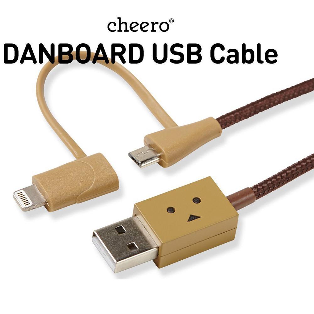 cheero阿愣lightning+MicroUSB雙用充電傳輸線(100公分)