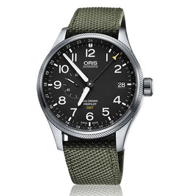 ORIS Big Crown ProPilot GMT小秒針飛行錶-黑x墨綠/45mm