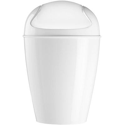 KOZIOL Del搖擺蓋垃圾桶(白M)