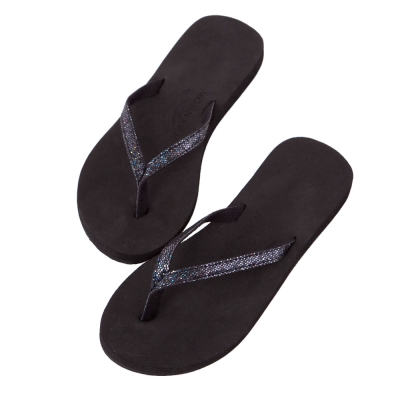 Rainbow Sandals美國牛麂皮夾腳休閒拖鞋-黑色