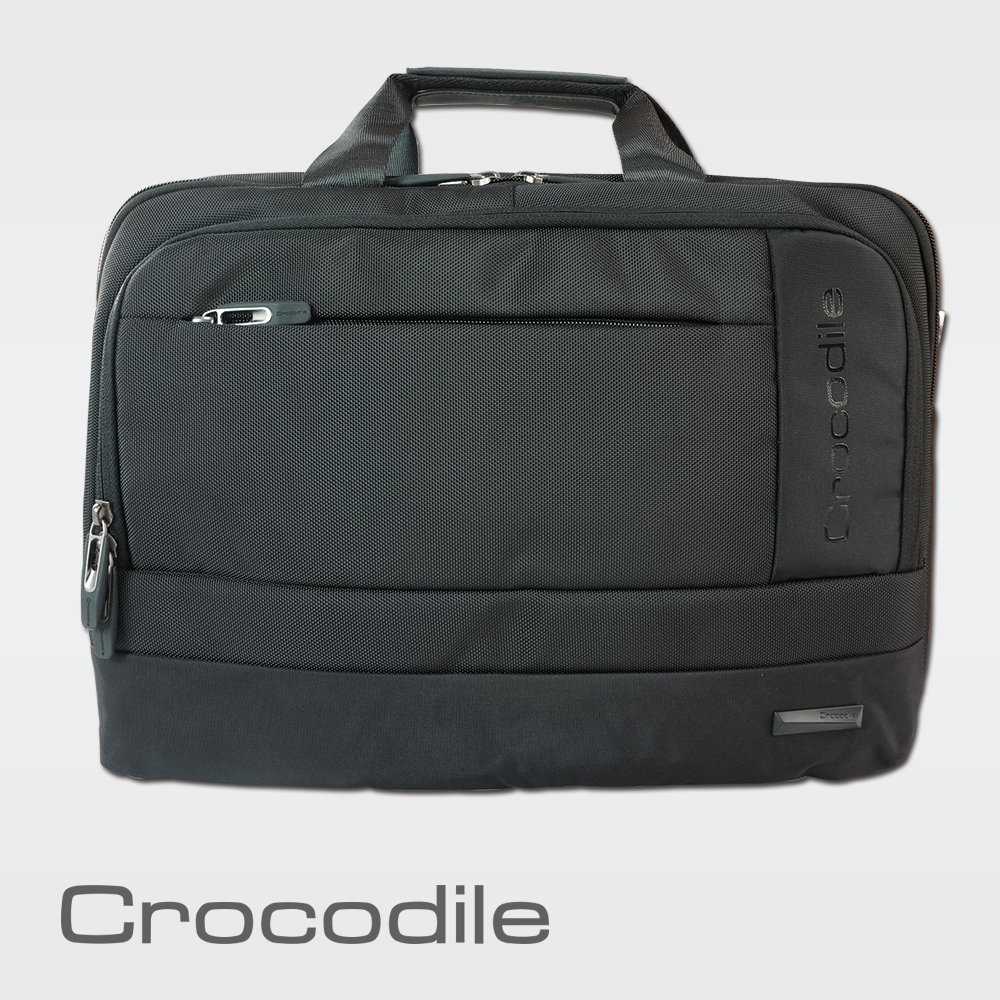 Crocodile Biz 3.0 系列單拉鍊橫式公事包 0104-07808 product image 1