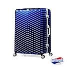 AT美國旅行者25吋Triangle防爆鋁框TSA海關鎖行李箱 霧面藍