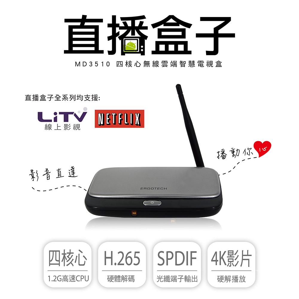 人因 直播盒子 MD3510 4K無線雲端智慧電視盒