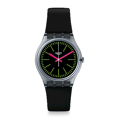 Swatch The Swatch Vibe FLUO LOOPY 螢光綠圈手錶