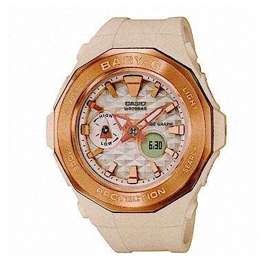 BABY-G 卡西歐海灘豪華露營概念休閒錶(BGA-225CP-4A)-杏色/45.5mm