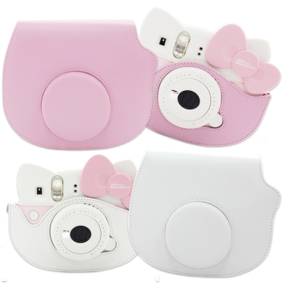 For FUJIFILM mini Hello Kitty 拍立得專用皮質相機包
