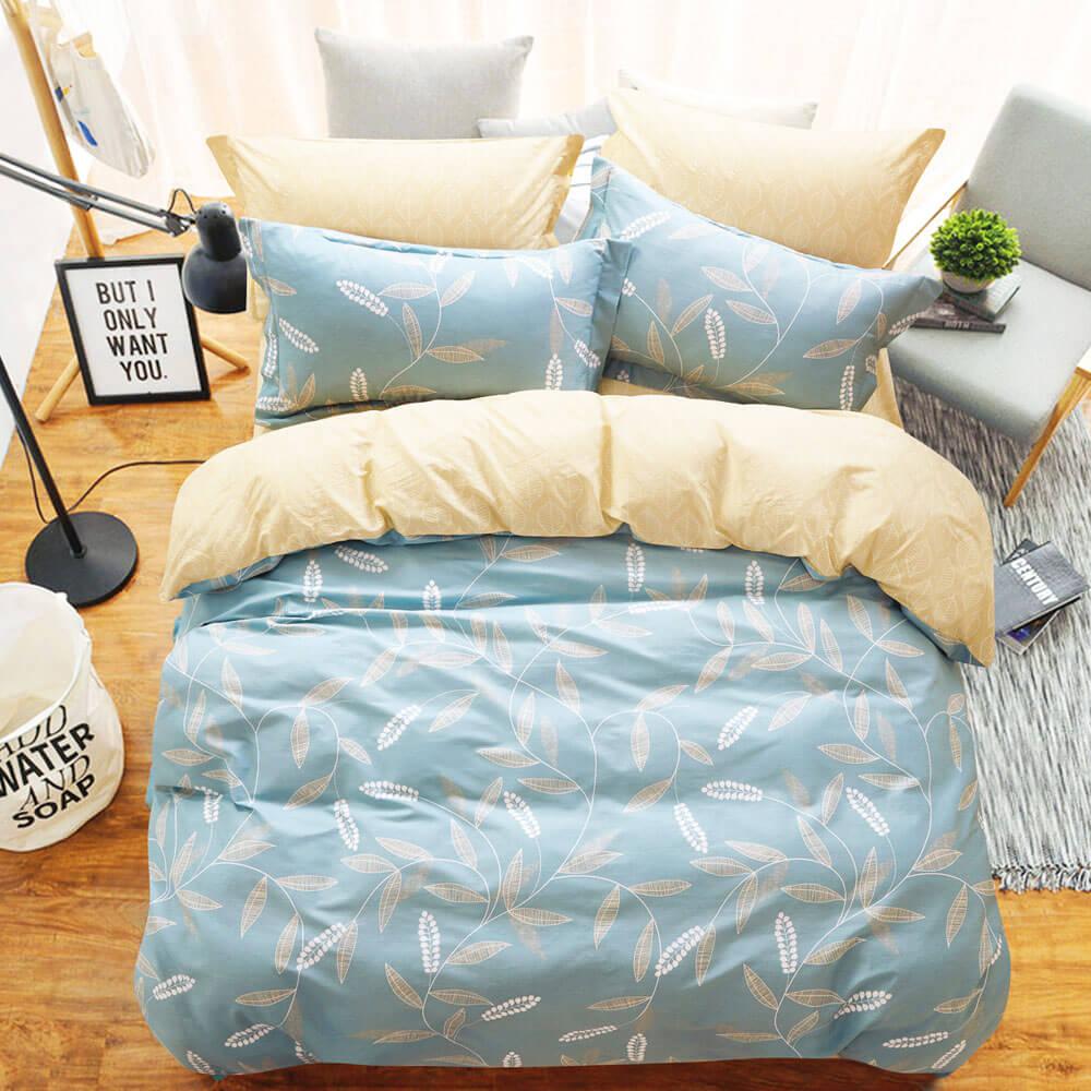 Ania Casa隨風搖曳 雙人三件式 100%精梳棉 台灣製 床包枕套純棉三件組