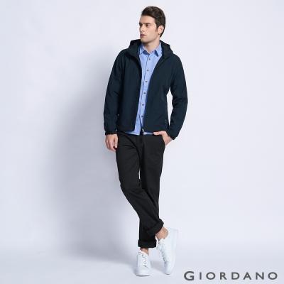 GIORDANO 男裝基本款休閒直筒褲 - 09 標誌黑