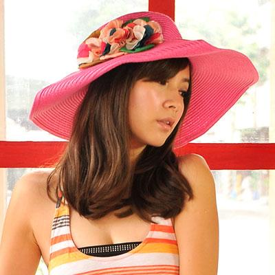 【Aimee Toff】京彩和風漾花遮陽帽(桃)