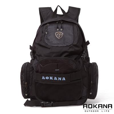 AOKANA奧卡納 台灣釦具 護脊紓壓電腦後背包 可收納籃球(藍標)68-069