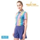 【hilltop山頂鳥】女款ZIsofit吸濕排汗彈性POLO衫S14FD5灰印花