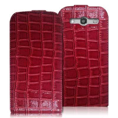 Samsung GALAXY S3 i9300 精工美藝鱷魚皮紋下掀磁扣皮套
